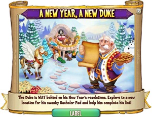 Castleville Duke's New Year's Resolution Quest