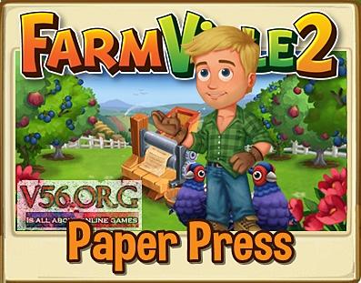 Farmville 2 Paper Press